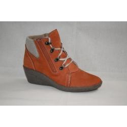ZIMNÍ zdravotní kožené polovysoké boty a29bd1b43a