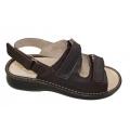 Zdravotní obuv - boty Hanák pánské kožené sandále vzor 619 suchý zip P  pásek vzadu 57446fa29a