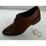 Pánské boty kožené společenské hnědé