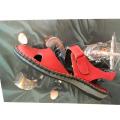 Dámské sandálky kožené vycházkové nízký klín
