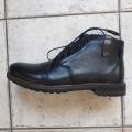 Pánské boty kožené  zimní Leader for Men černá